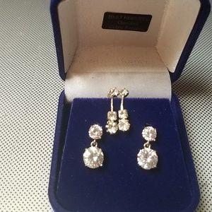 mommy and me rhinestone pierced earrings